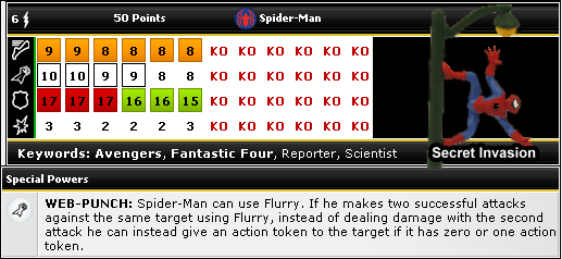 HeroClix World Spiderman dial