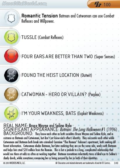 HeroClix Batman Catwoman card