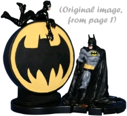 HeroClix Batman and Catwoman