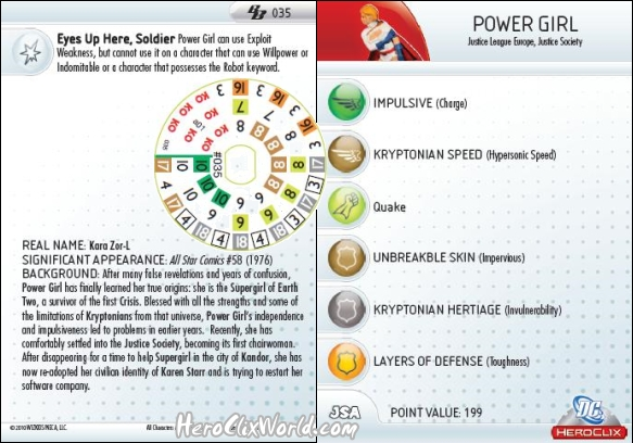 HeroClix Power Girl