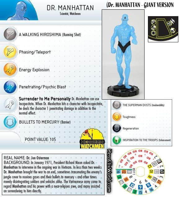 HeroClix Dr. Manhattan GIANT
