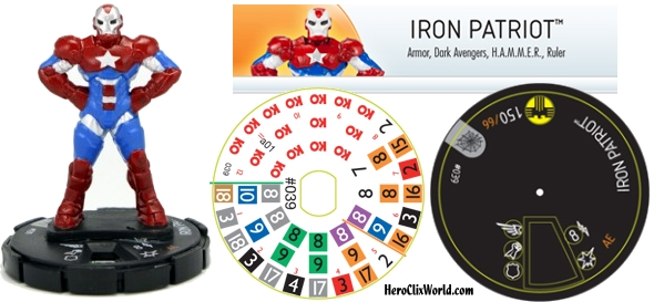 Iron Patriot HeroClix Web of Spiderman