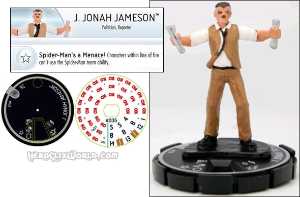 JJJ HeroClix Web of Spider-man Jonah Jameson