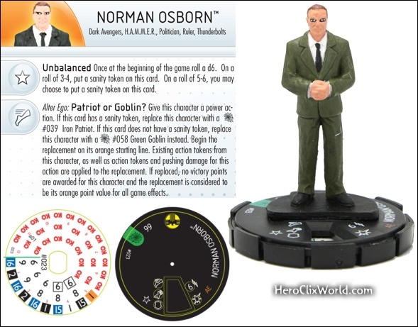 Norman Osborn HeroClix Web of Spiderman