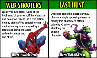 HeroClix World Cards