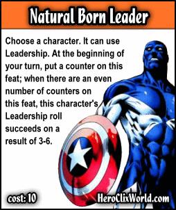 HeroClix World - Custom Feats - Natural Born Leader