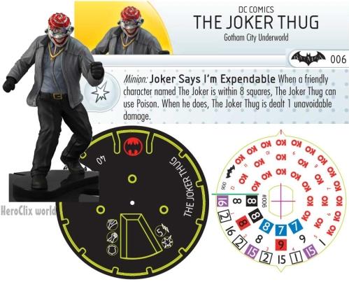 HeroClix Batman: Arkham Origins Joker Thug