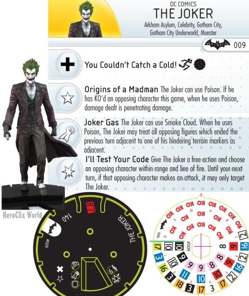 HeroClix Batman: Arkham Origins Joker