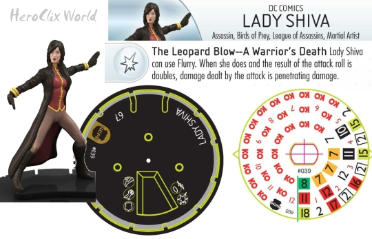 HeroClix Streets of Gotham Team Pack: Lady Shiva