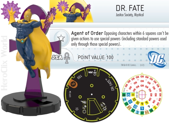 HeroClix Dr Fate Convention Exclusive Dial