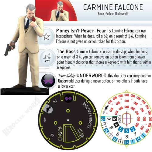 Carmine Falcone HeroClix Dial Dark Knight