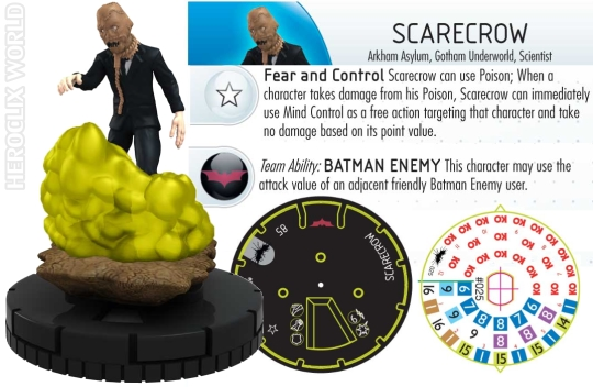 HeroClix Dark Knight Rises Spoilers Dials Scarecrow
