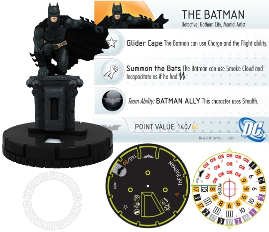 HeroClix Dark Knight Rises Spoilers the Batman Dial