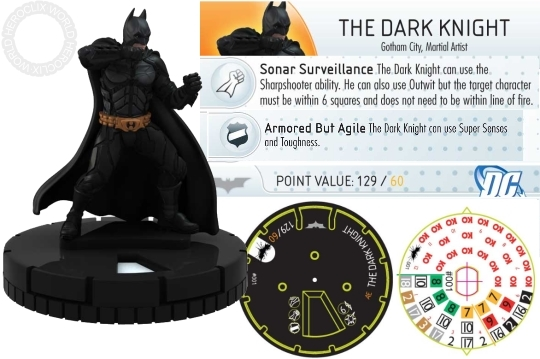 HeroClix Dark Knight Rises Spoilers The Dark Knight Dial