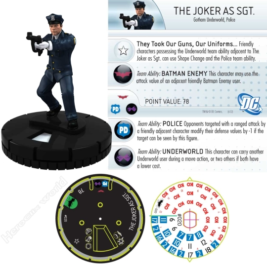 HeroClix Dark Knight Joker Dial