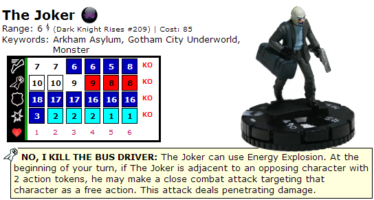 The Joker Dark Knight REturns HeroClix Dial