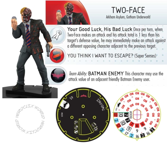HeroClix Two-Face Dark Knight Rises Spoilers Dials