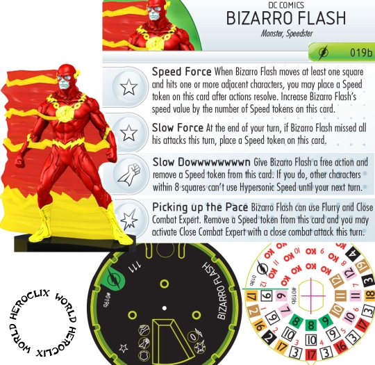 The Flash HeroClix spoilers 019A Bizarro Flash Dial