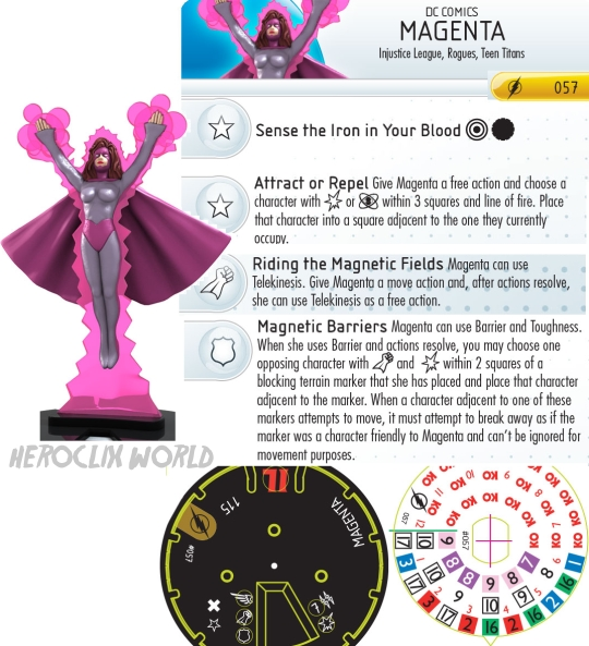 Magenta HeroClix Dial The Flash