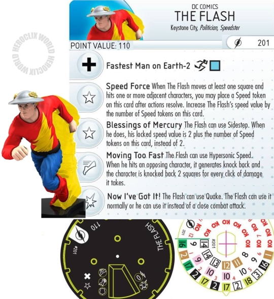 The Flash 201 HeroClix Dial
