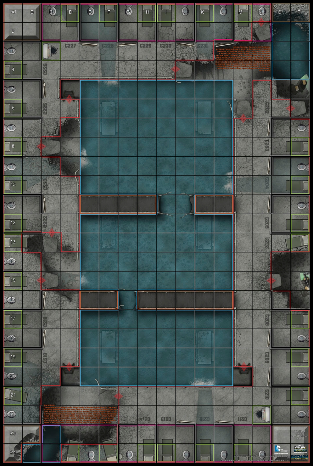 Heroclix BlackGate Prison Map