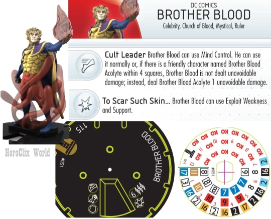 HeroClix Brother Blood Dial