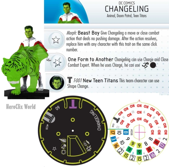 HeroClix Changeling dial The Le Games