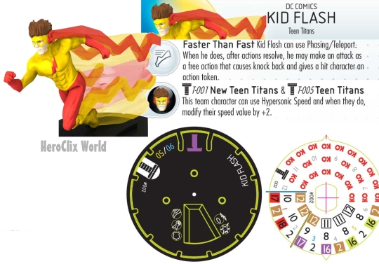 HeroClix Kid Flash Dial The Le Games