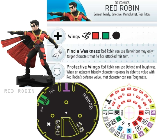 HeroClix Red Robin dial