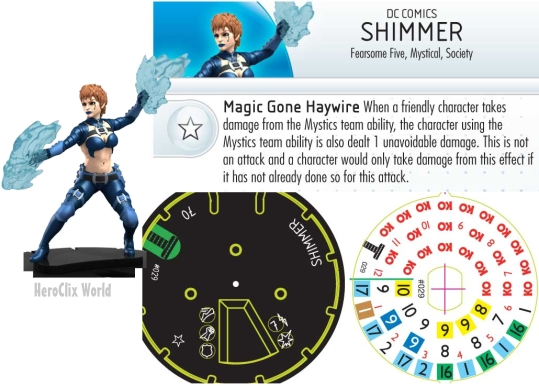 Shimmer HeroClix Dial