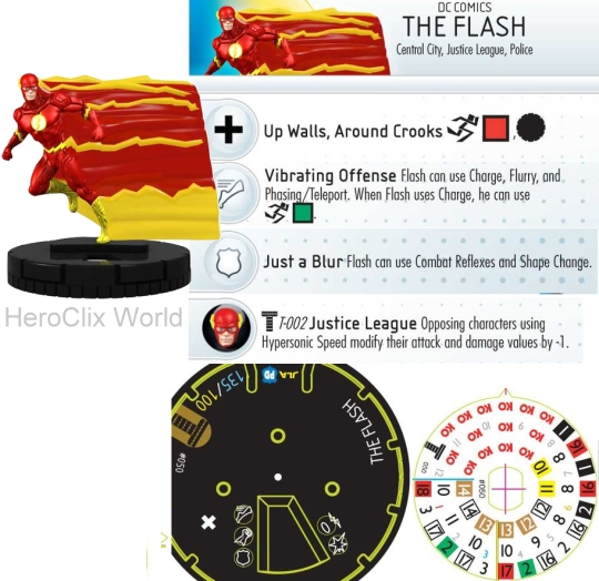 The Flash HeroClix Dial Teen Titans