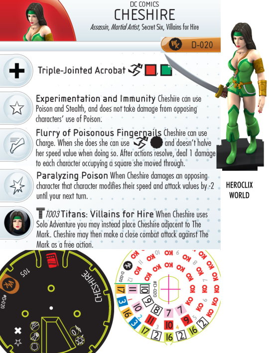 cheshire heroclix dial