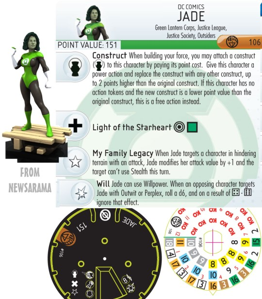HeroClix Green Lantern War of Light Dial