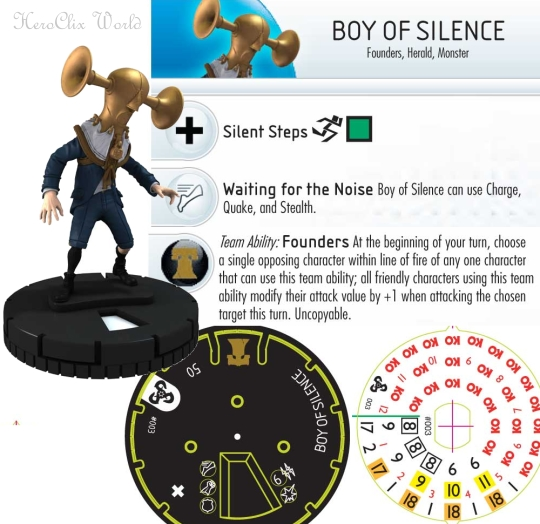 HeroClix Boy of silence dial