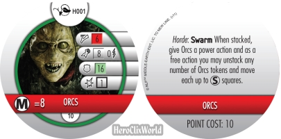 Lord of the Rings HeroClix Horde Token Orcs