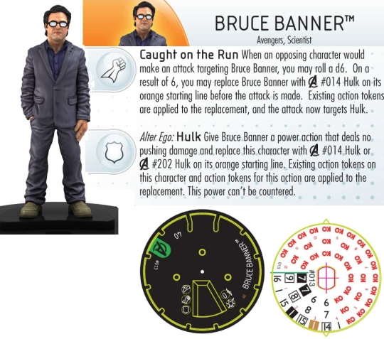 HeroClix Bruce Banner Dial Avengers Movie