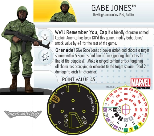 HeroClix Avengers Movie Gabe Jones