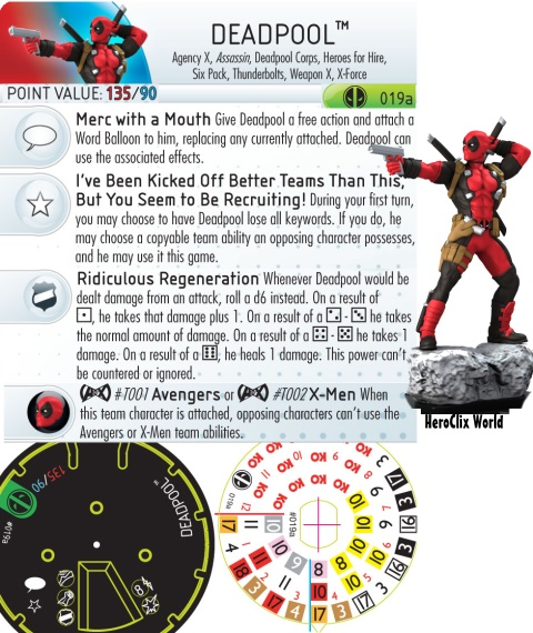 HeroClix Deadpool Figure Dial