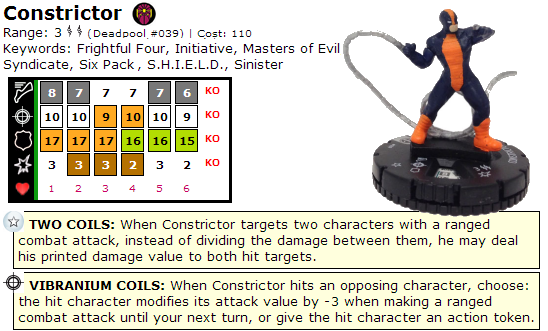 HeroClix Constrictor Dial