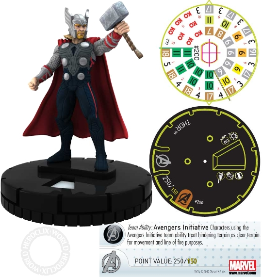 Free comic Book Day Thor HeroClix Figure Dial 2012