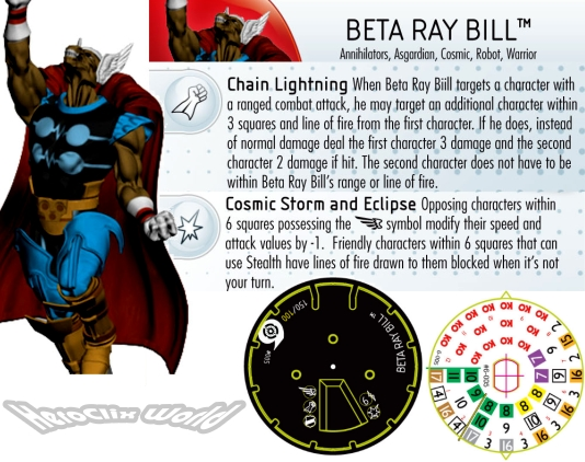 HeroClix Beta Ray Bill Dial Galactic Guardians
