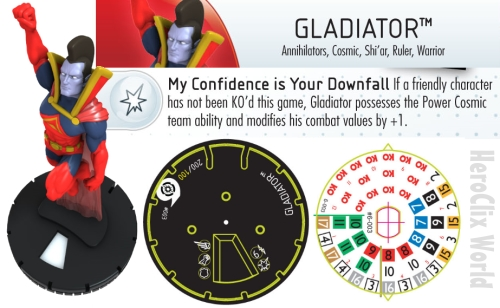 HeroClix Gladiator Fast Forces Dial