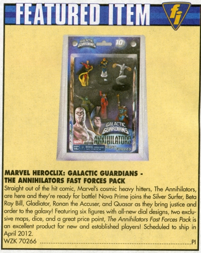Game Trade Magazine Featured Item HeroClix