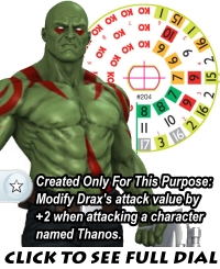 Galactic Guardians Gravity Feed Drax Dial