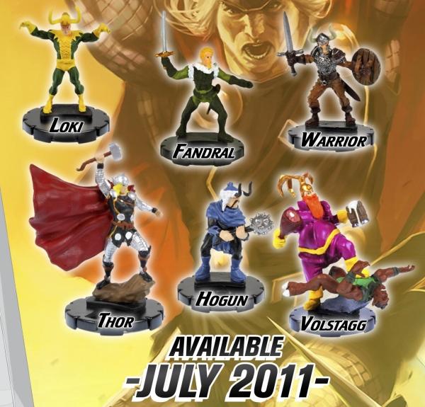 Asgardian Warrior LOT X 2 HEROCLIX HAMMER OF THOR Asgardian Warrior 014