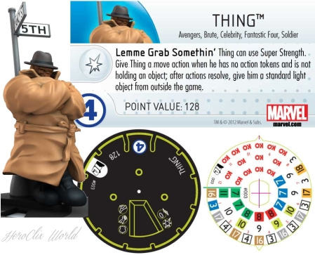 The Thing Heroclix Dial