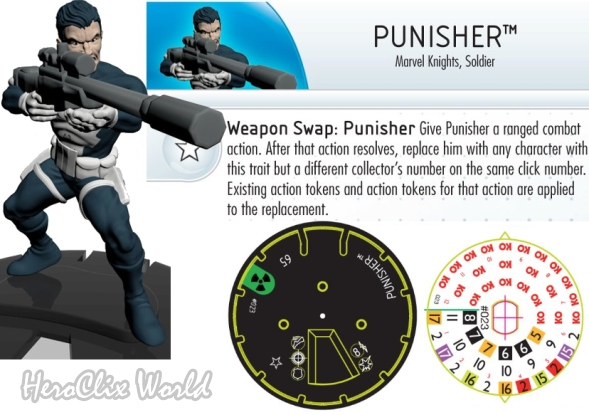 HeroClix PUnisher with Sniper Rifle