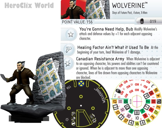 HeroClix Wolverine Days of Fugure Past x-Men