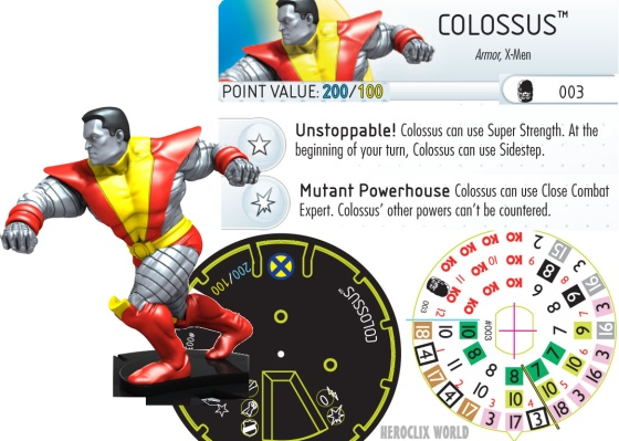 Days of Future Past HeroClix Colossus Dial