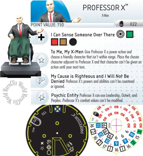 Professor X Days of Future Past HeroClix Dial